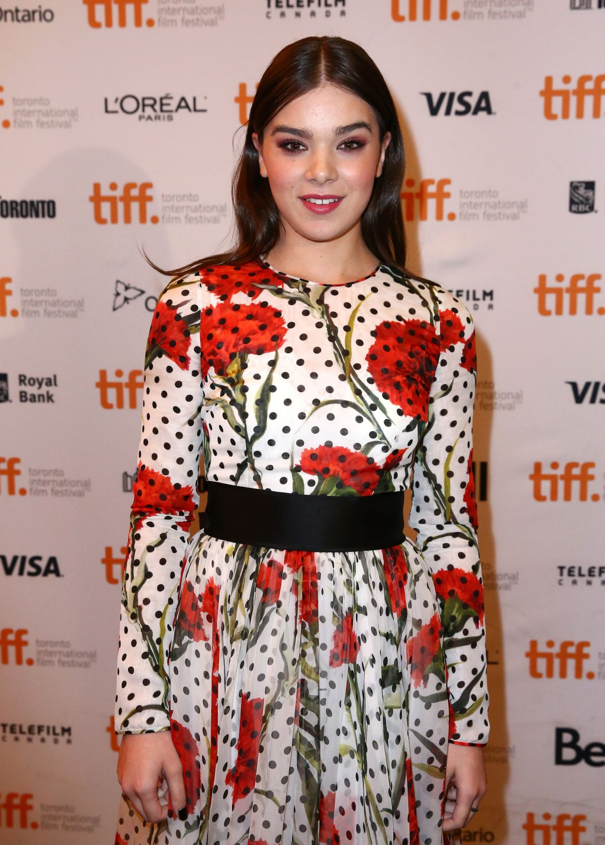 HAILEE STEINFELD at The Keeping Room premiere in Toronto