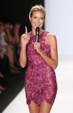 HEIDI KLUM at Project Runway Fashion Show in New York