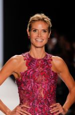 HEIDI KLUM at Project Runway Fashion Show in New York