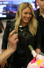 HILARY DUFF Arrives at Airport in Sydney