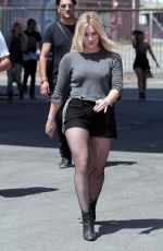 HILARY DUFF on the Set of All About You Music Video in Los Angeles