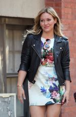 HILARY DUFF on the Set of Younger in New York
