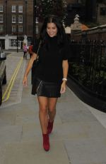 IMOGEN THOMAS Arrives at Chiltern Firehouse in London