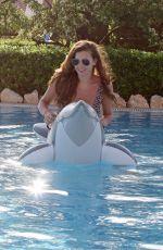 IMOGEN THOMAS in Bikini at a Pool in Sicily