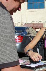 JANEL PARRISH Arrives at DWTS Rehearsal in Los Angeles