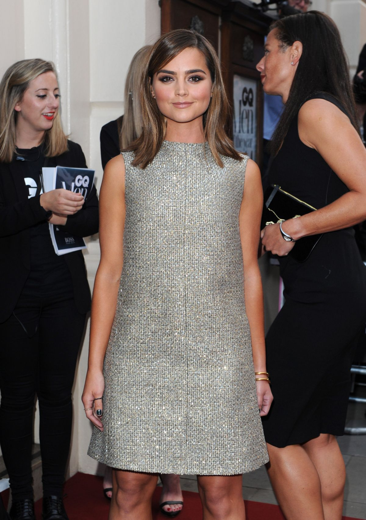JENNA COLEMAN at 2014 GQ Men of the Year Awards in London