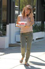 JENNIFER GARNER Leaves Coffee Bean in Los Angeles