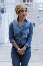 JENNIFER LOPEZ in Jeans at a Photoshoot in Bronx