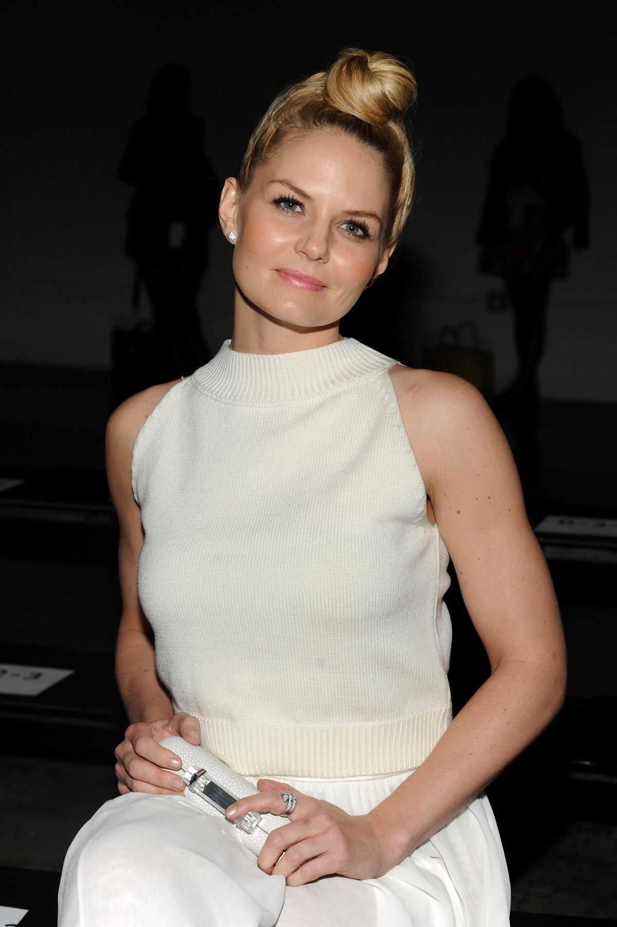 JENNIFER MORRISON at Sally Lapointe Fashion Show in New York