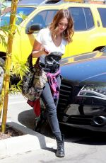 JESSICA ALBA Arrives at a Office in Santa Monica