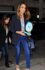 JESSICA ALBA Arrives Back at Her Hotel in New York