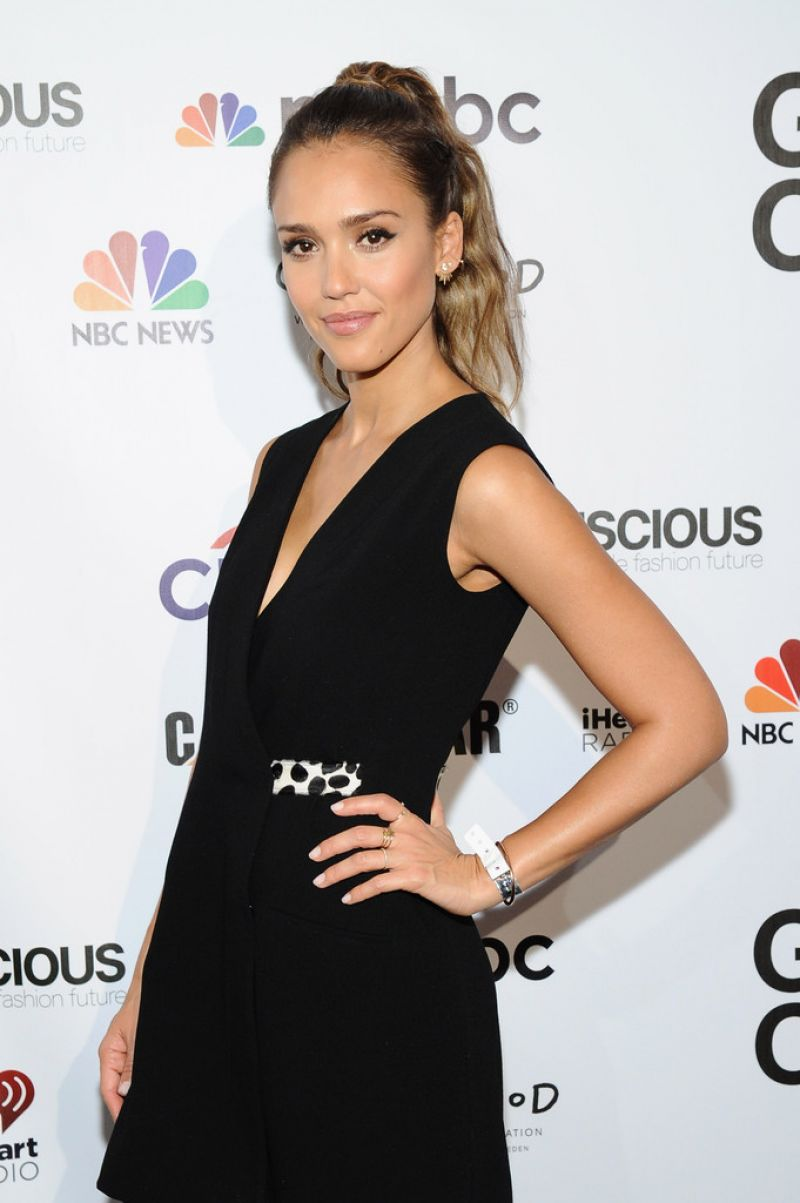 JESSICA ALBA at Global Citizen Festival VIP Lounge in New York