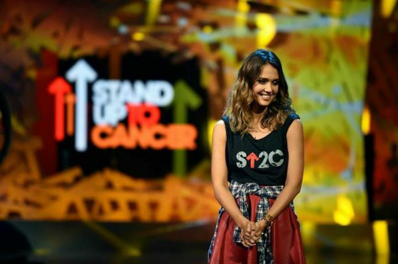 JESSICA ALBA at Stand Up 2 Cancer Live Benefit in Hollywood