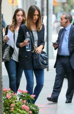 JESSICA ALBA Heading to a Meeting in New York 2909
