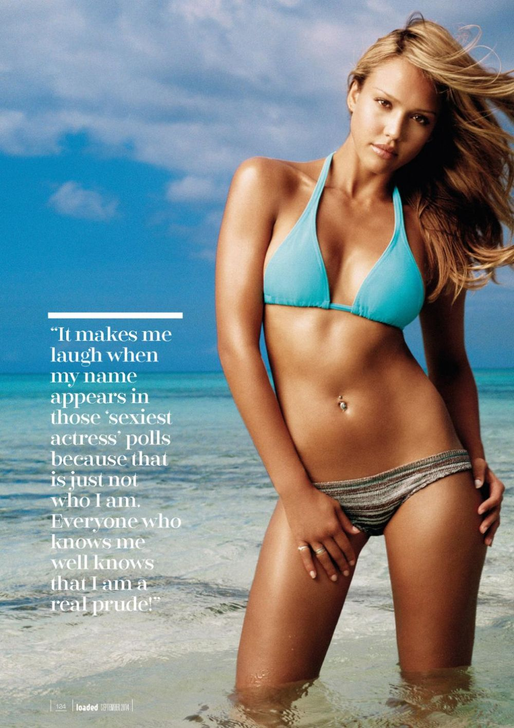 JESSICA ALBA in Loaded Magazine, September 2014 Issue