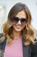 JESSICA ALBA Leaves Trump Soho Hotel in New York 2609