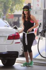 JESSICA BIEL at a Gas Station in West Hollywood