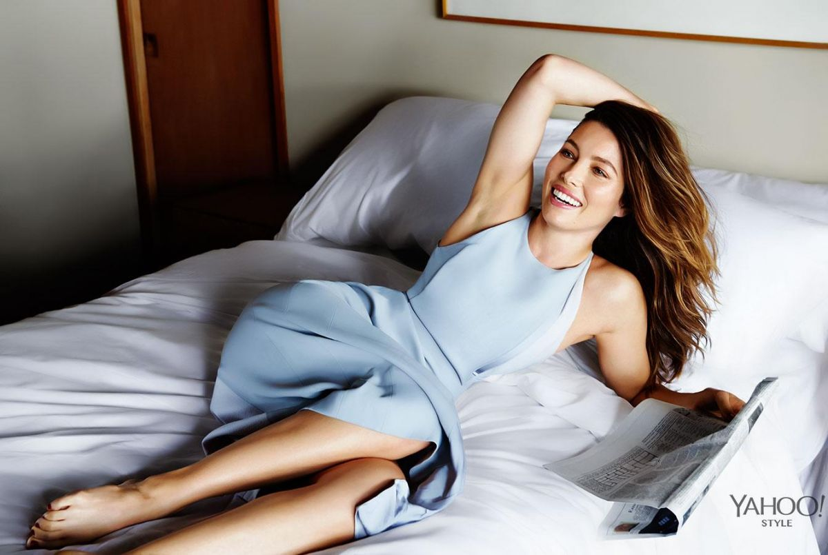 JESSICA BIEL in Yahoo Style, September 2014 Issue - HawtCelebs ... Jessica Biel