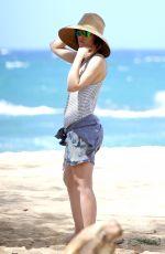 JESSICA BIEL on the Beach in Maui