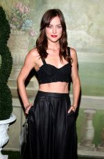 JESSICA STROUP at Alice+Olivia by Stacey Bendet Fashion Show in New York
