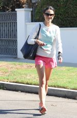 JORDANA BREWSTER in Shorts Out and About in Los Angeles
