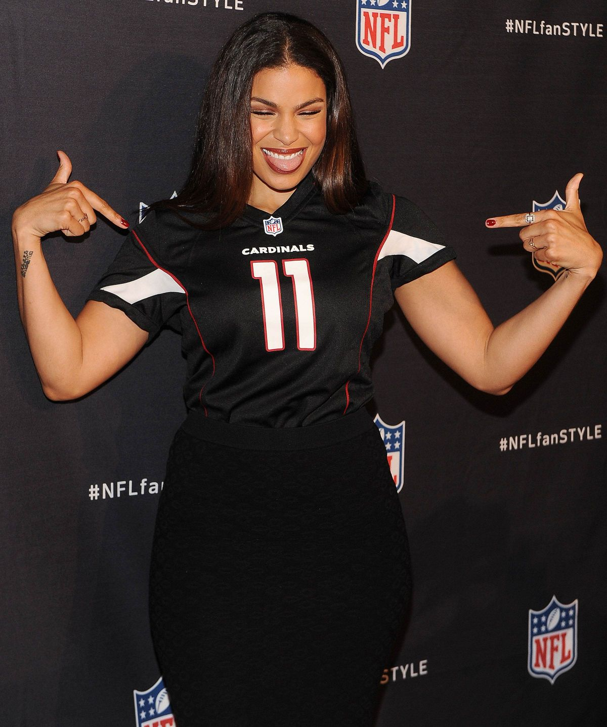 JORDIN SPARKS at NFL Inaugural Hall of Fashion Launch in New York