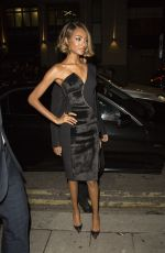 JOURDAN DUNN at Maybelline Party at London Fashion Week