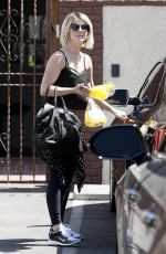 JULIANNE HOUGH Leaves DWTS Rehearsals in Hollywood