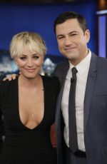 KALEY CUOCO at Jimmy Kimmel Live! in Hollywood