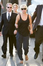 KALEY CUOCO Heading to Jimmy Kimmel Live! in Hollywood