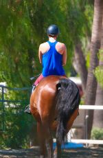 KALEY CUOCO Riding Her Horse in Simi Valley 0509