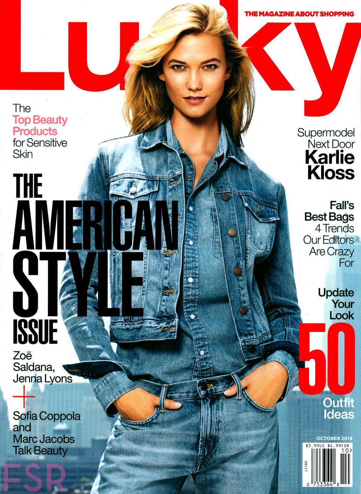 KARLIE KLOSS in Lucky Magazine, October 2014 Issue