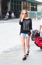 KATE BOSWORTH in Cutoffs Leaves Her Hotel in New York