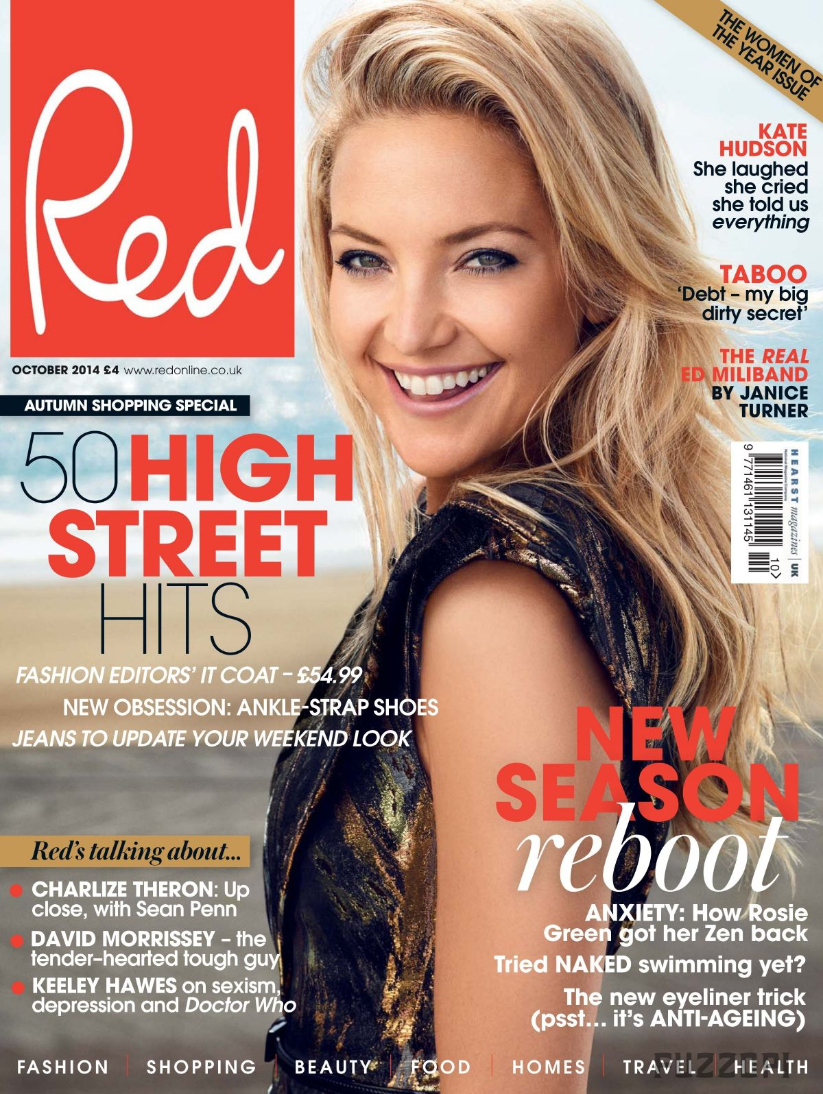 KATE HUDSON on the Cover of Red Magazine, October 2014 Issue