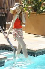 KATHERINE MCNAMARA at Photoshoot by a Pool in Los Angeles