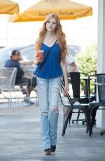 KATHERINE MCNAMARA Leaves Jamba Juice in Los Angeles