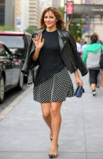 KATHERINE MCPHEE in Short Skirt Out in New York
