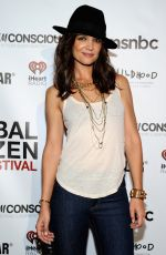 KATIE HOLMES at Global Citizen Festival VIP Lounge in New York