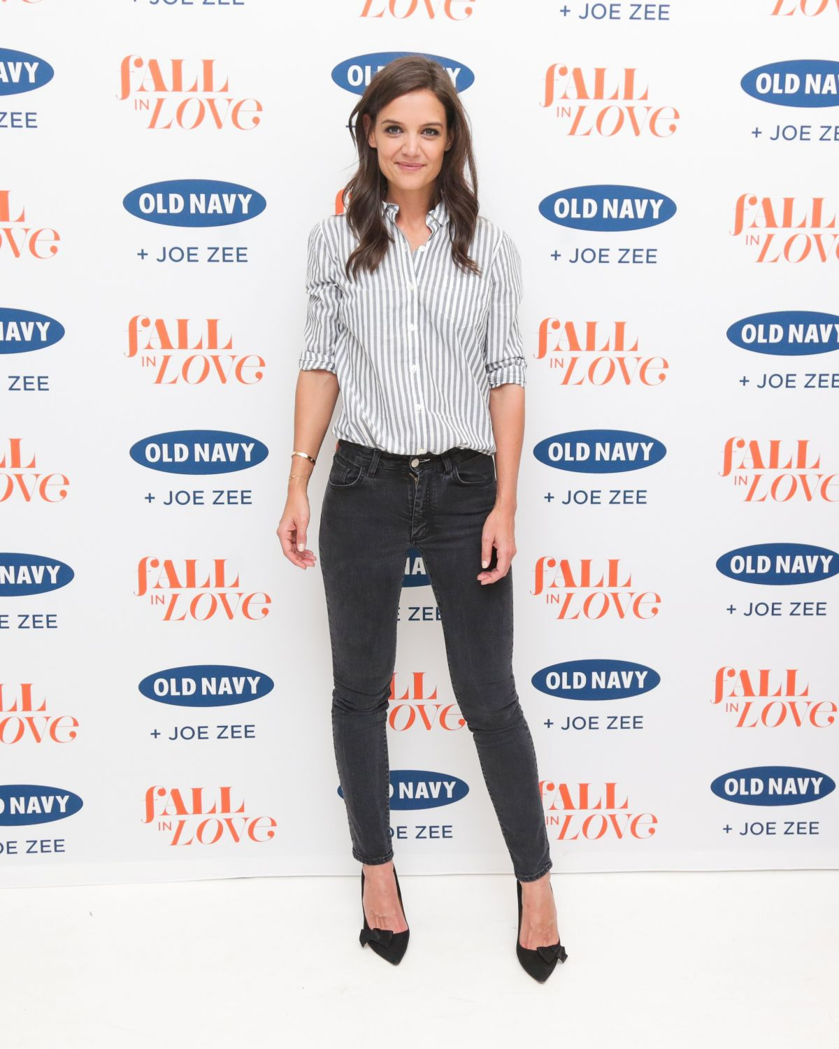 KATIE HOLMES at Old Navy and Joe Zee Party in New York