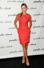 KATRINA BOWDEN at Pamella Roland Fashion Show in New York