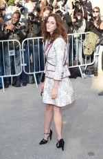 KAYA SCODELARIO at Chanel Fashion Show in Paris