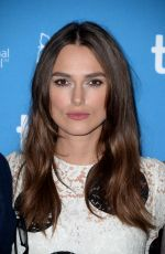 KEIRA KNIGHTLEY at The Imitation Game Press Conference in Toronto