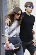 KEIRA KNIGHTLEY Out Shopping in London