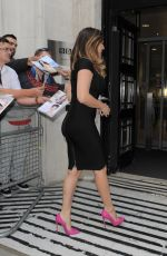 KELLY BROOK Arrives at BBC Radio 2 Studios in London