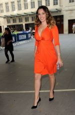 KELLY BROOK Arrives at BBC Radio in London