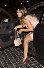 KELLY BROOK Arrives at Cecconi
