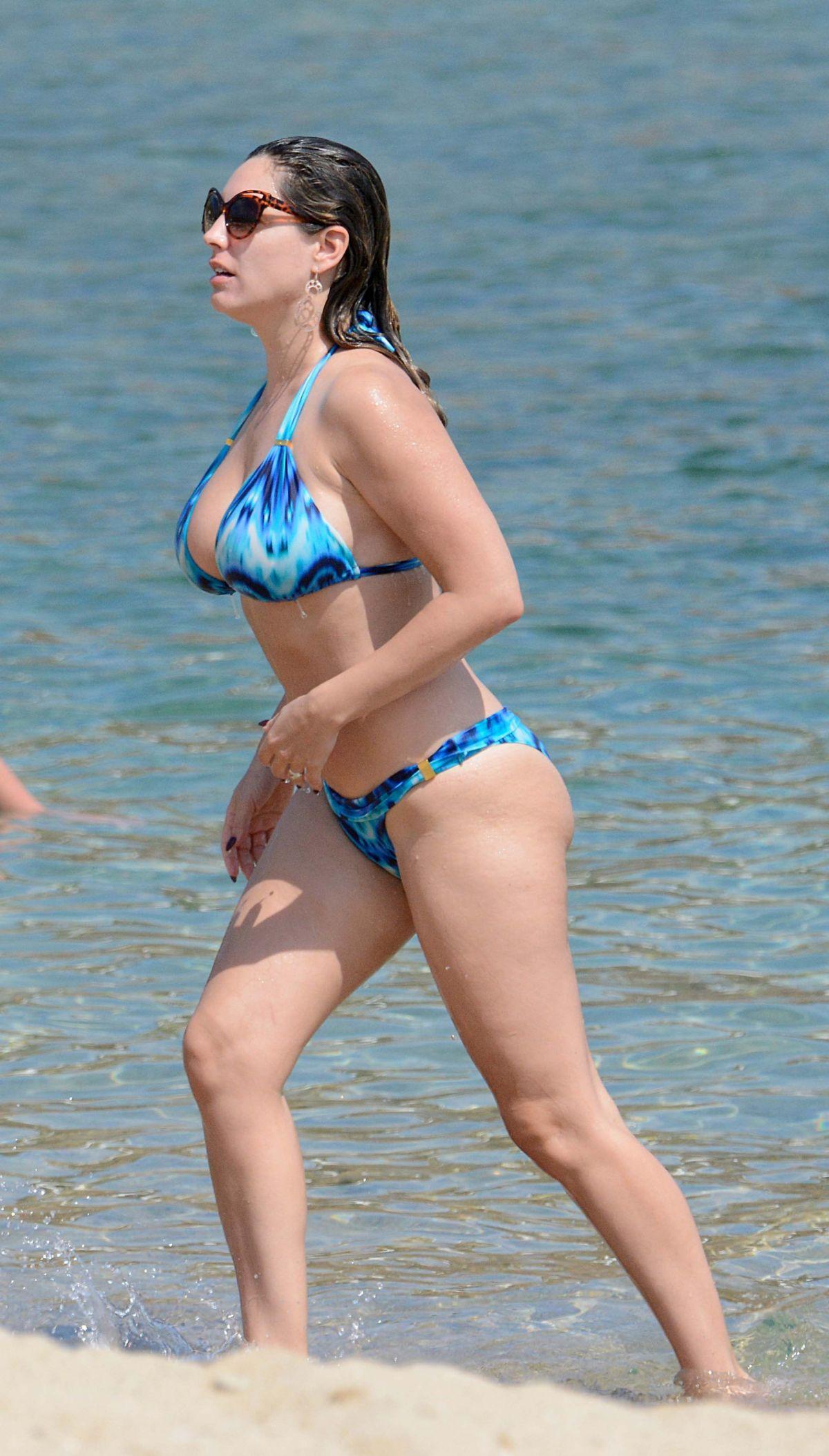 6c48af37da KELLY BROOK in Bikini at a Beach in Greece HawtCelebs