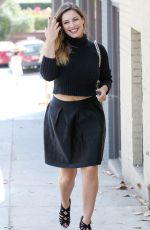 KELLY BROOK in Black Skirt Out in Los Angeles