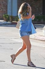 KELLY BROOK in Denim Shorts Out Shopping in Los Angeles