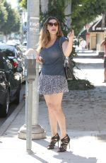 KELLY BROOK in Short Skirt Out in Beverly Hills